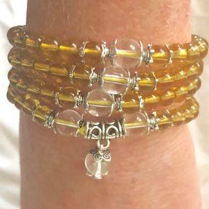 Beautiful Crystal Stone Buddhist Bracelet/Necklace